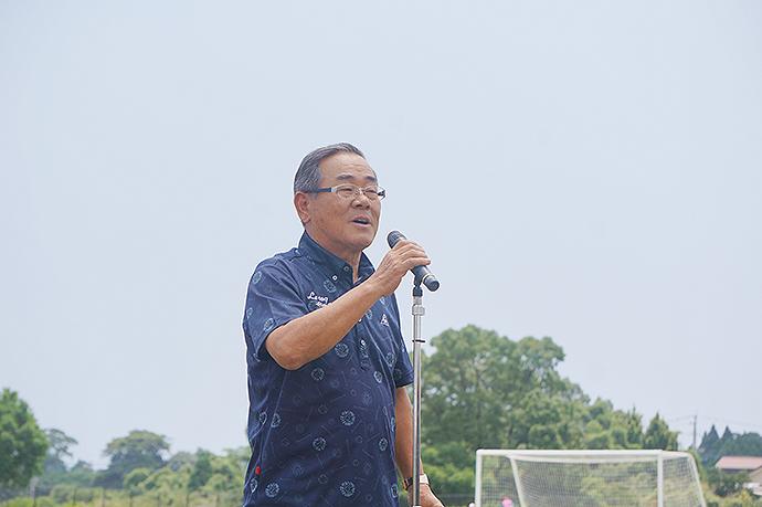 東児湯サッカー協会会長の西川義孝様