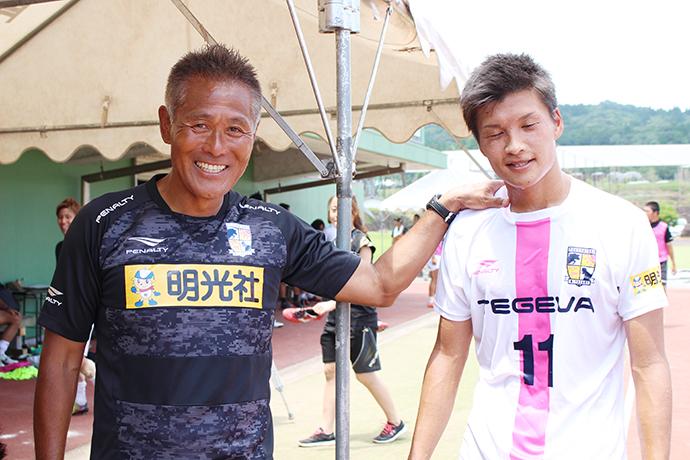 山口愛騎選手と石崎監督