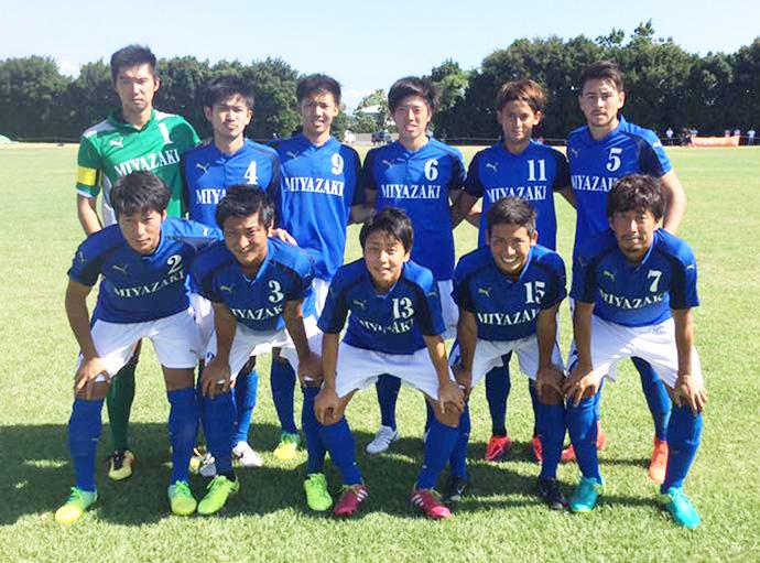 宮崎県成年男子サッカー選抜メンバー集合写真