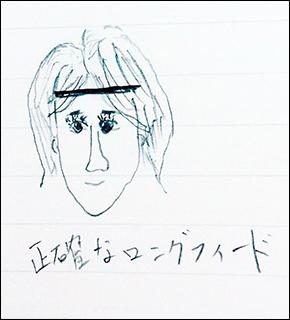 石川選手の似顔絵