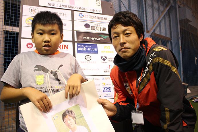 井福選手と男の子