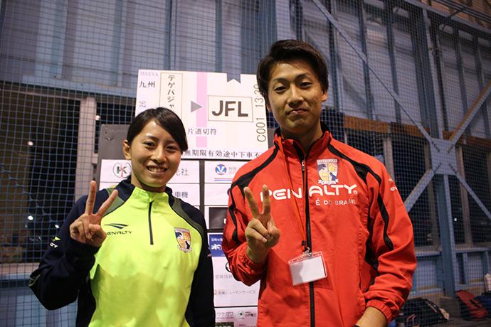 中村選手とアレグリータの選手