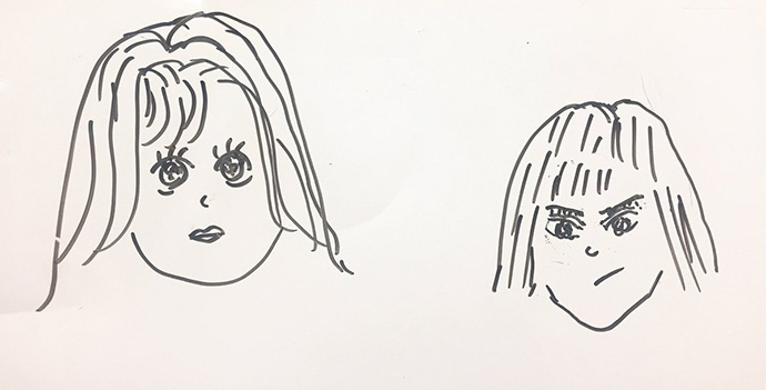 MC2人の似顔絵