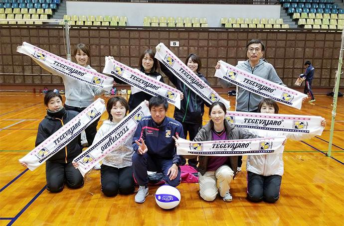 宮田選手と参加してくれたチームのみなさん