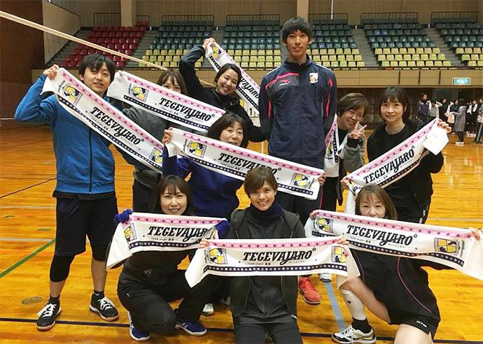 福田選手と参加してくれたチームのみなさん
