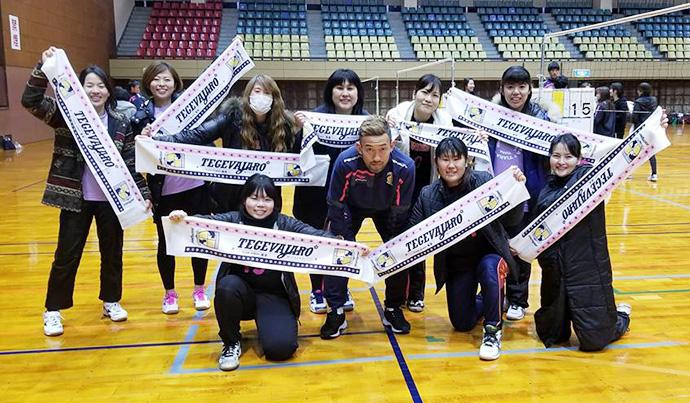 田中選手と参加してくれたチームのみなさん