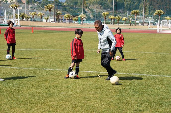 石崎監督によるサッカー教室の様子6