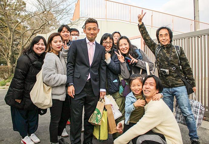 元ヴィッセル神戸、田中英雄選手とサポーターの皆さん2