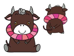 小林市観光イメージキャラクター「こすモ~」ちゃん
