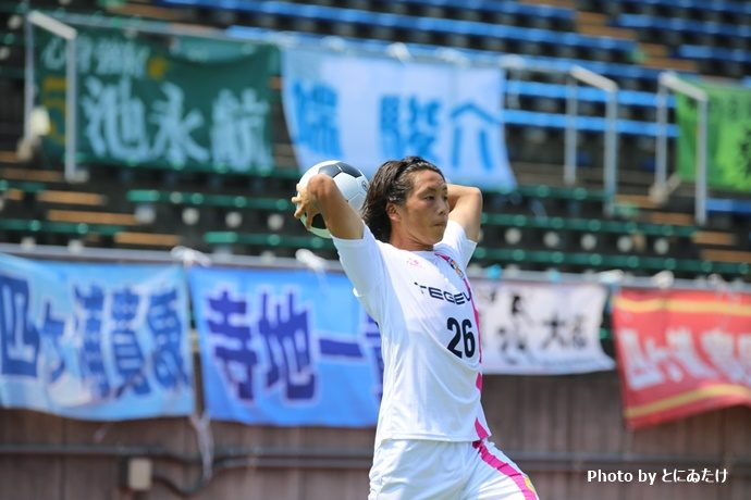 中村選手スローイン