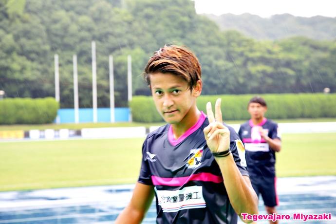 試合前の藤岡選手