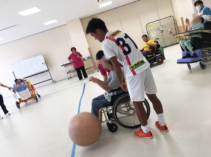 8/27日南病院ふれあいスポーツボランティア活動報告
