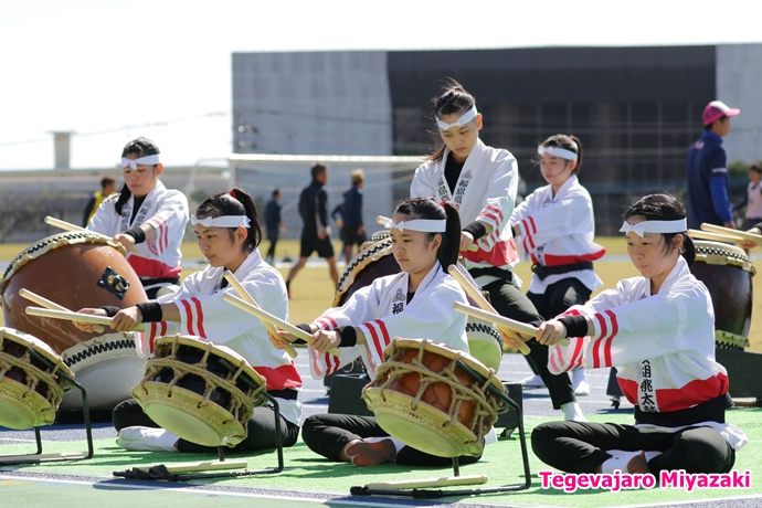 オープニングアクト:宮崎県立福島高等学校胡桃太鼓部様