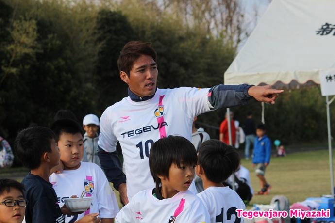 テゲバ運動会:第二種目・ミニサッカーゲーム(水永選手)