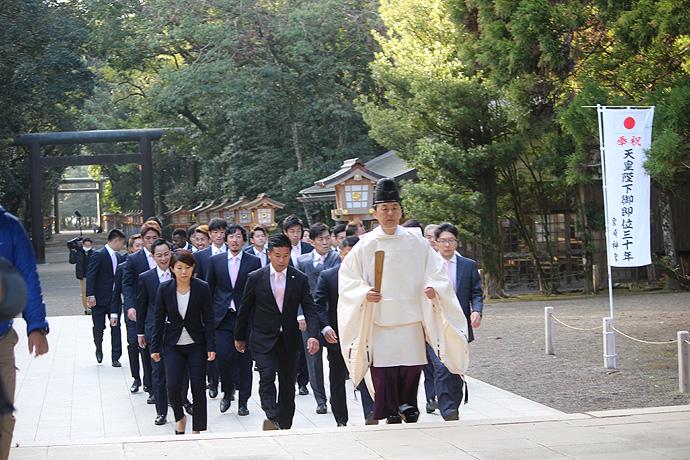宮崎神宮へ必勝祈願参拝!