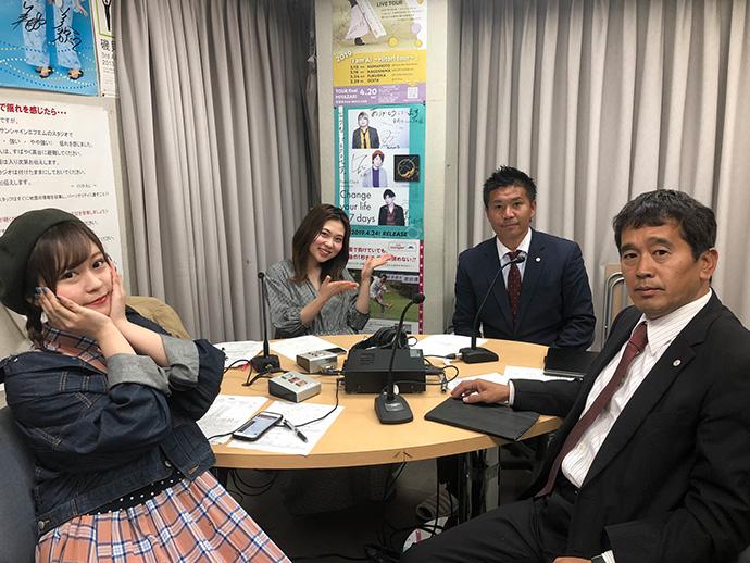 3/28:甲斐杏奈さん、穴井怜菜さん、柳田GM、スタッフ杉谷