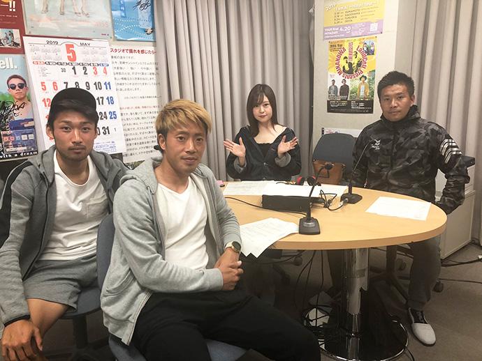 甲斐杏奈さん、柳田GM、三島勇太選手、石田皓太選手