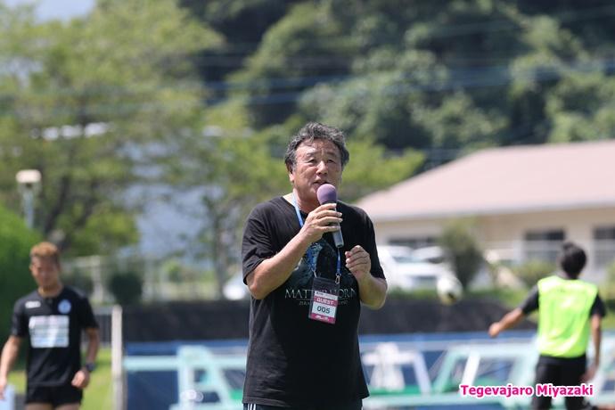 延岡市サッカー協会副会長 新玉信夫様
