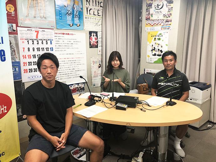 甲斐杏奈さん、GM柳田、青山生選手