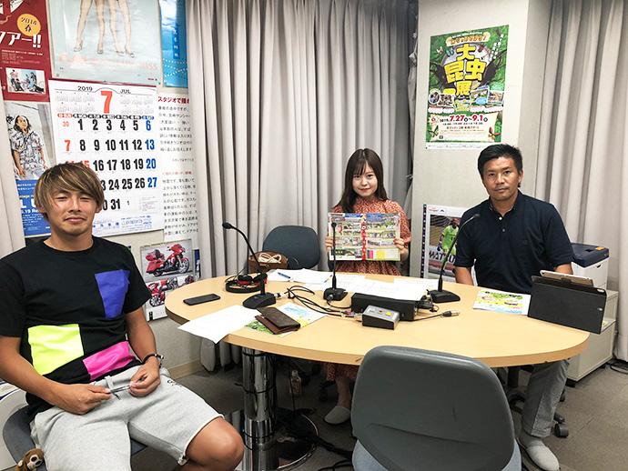 甲斐杏奈さん、GM柳田、米澤康太選手