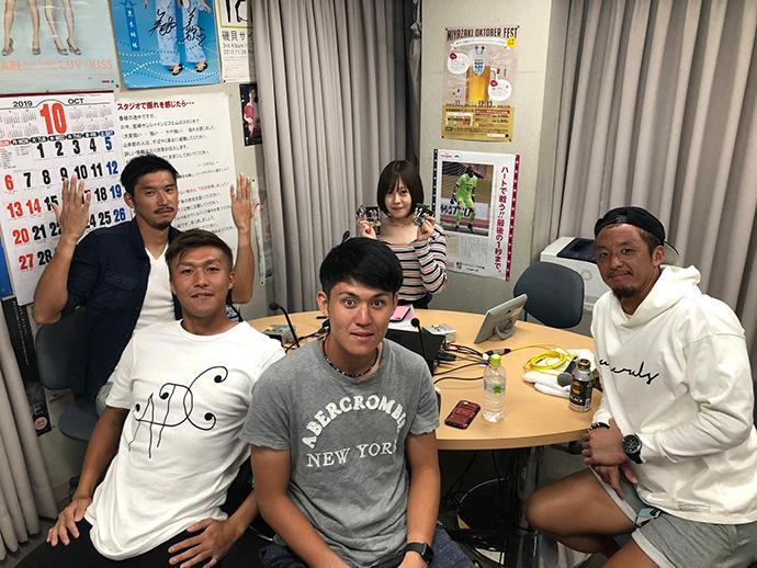 10/10:石井選手、村尾選手、赤塚選手、伊東選手