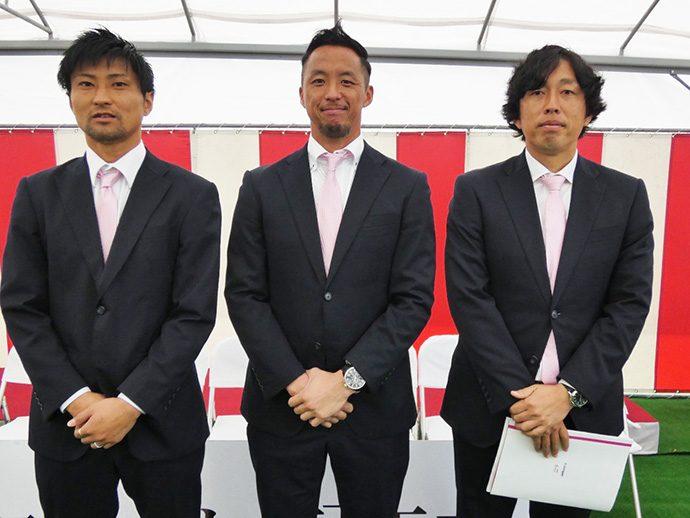 石井選手・井原選手・米田ヘッドコーチ
