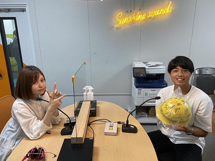5月13日大畑隆也選手ラジオ出演の様子