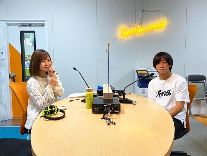 5月20日渡邊龍選手ラジオ出演の様子