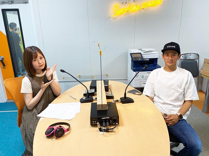 6月17日藤岡選手ラジオ出演の様子